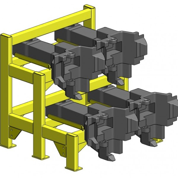 Four Pack Coupler Rack With Couplers