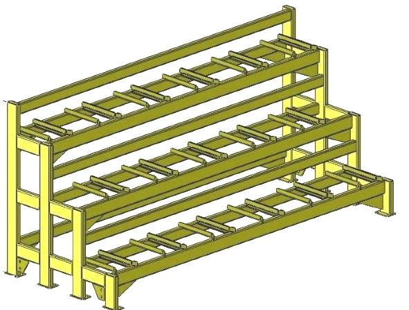 three tier coupler rack empty