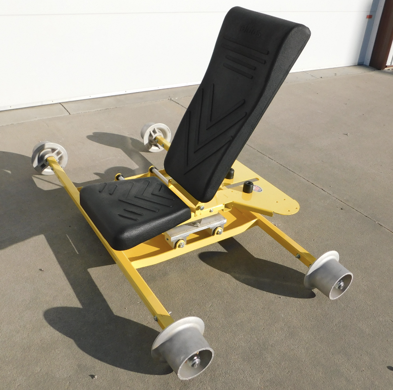 Rail Wheel Mounted Ergonomic Swivel Chair
