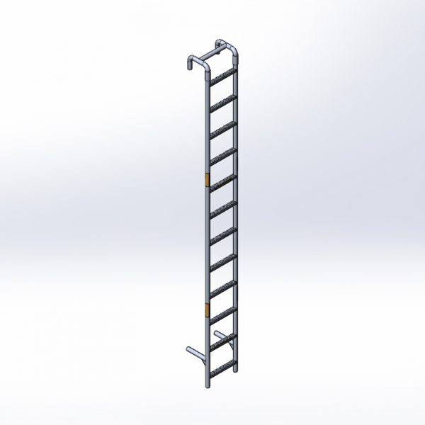 Twelve Foot Aluminum Ladder