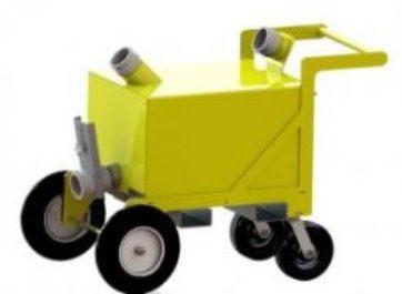 Four Wheel Toilet Servicing Cart